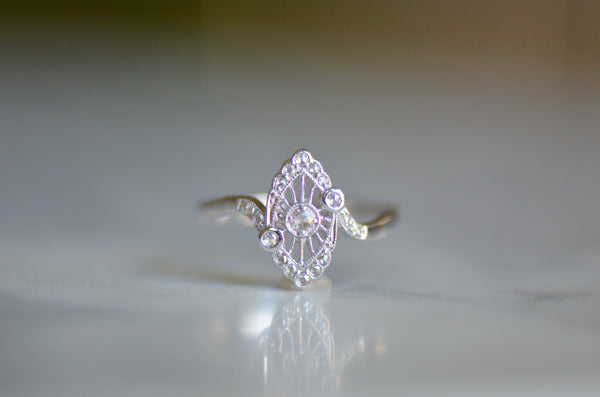 Dainty Rose Cut Diamond Ring