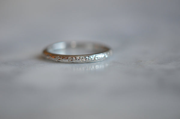 Pristine Orange Blossom Wedding Band