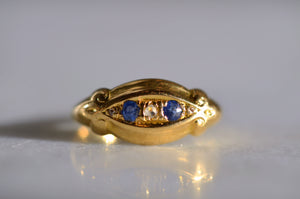 Light and Bright Edwardian Sapphire Ring