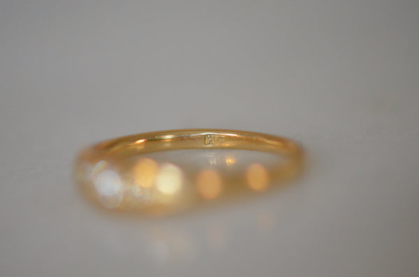 Refined Edwardian Five Stone Ring