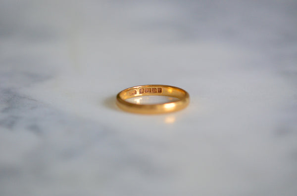 Rich Art Deco 22k Wedding Band 1926