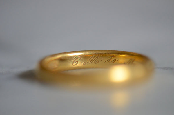 Chunky 22k Ring with Personal Inscription CM to MG 3/2/24