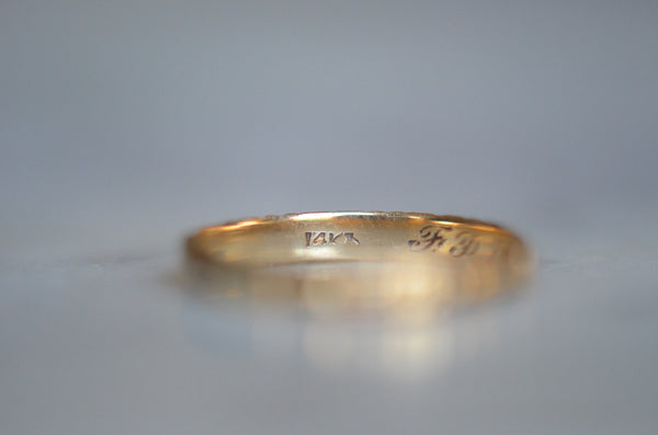 Tiny Personalized WWII Christmas Eve Wedding Band