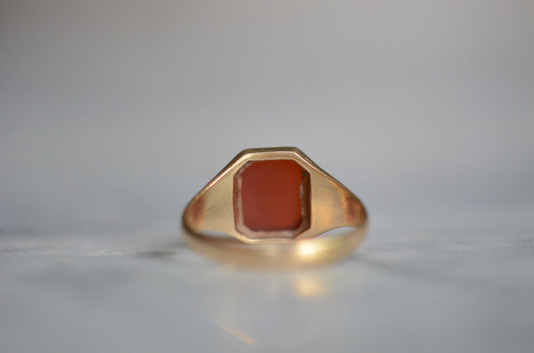 Sleek Carnelian Signet Ring