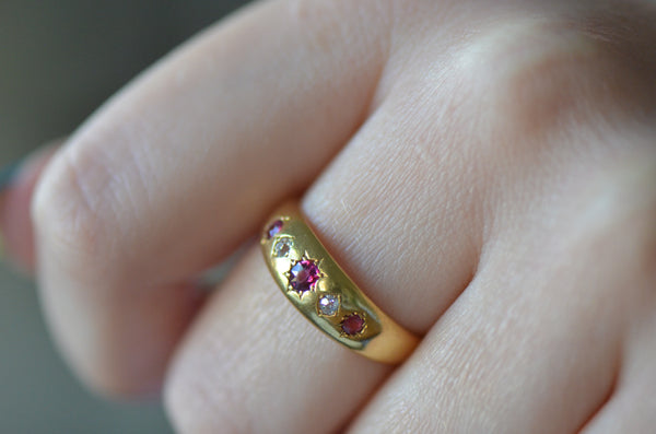 Lush Victorian Ruby and Diamond Ring