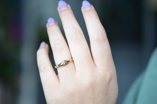 Slim Vintage Fede Ring