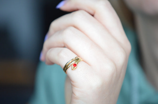 Delightful Coiled Snake Ring