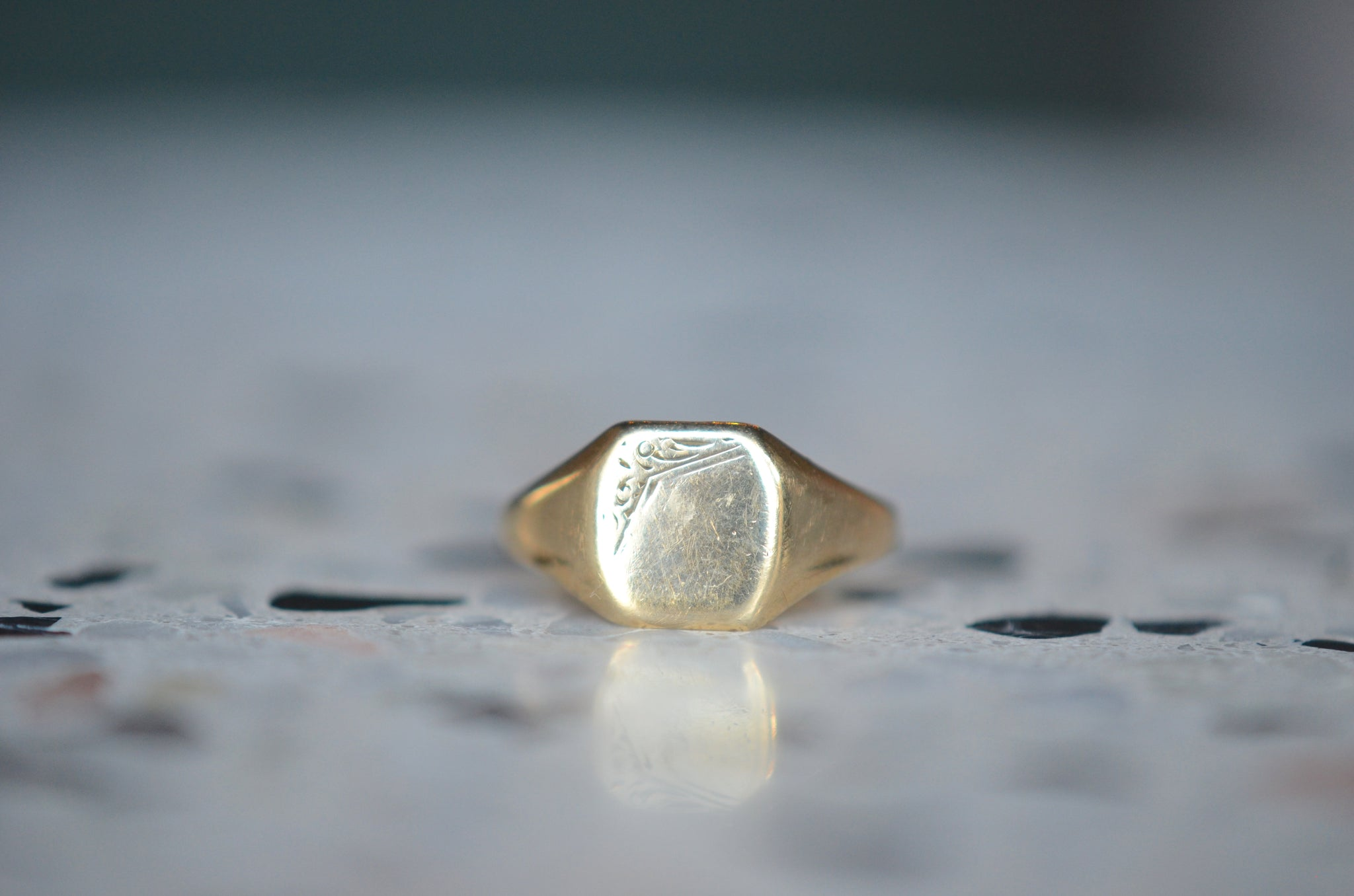 Comely Mid Century Signet Ring