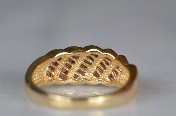 Decadent Vintage Baguette Dome Ring