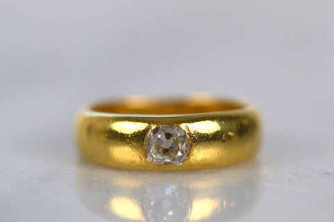 Chunkiest Antique Burnished Diamond Ring