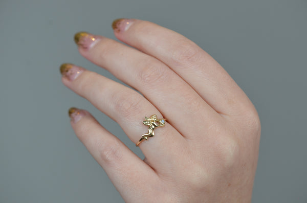 Dainty Estate Cupid Opal Ring