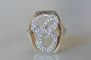 "Giant ""C"" Pinky Ring"