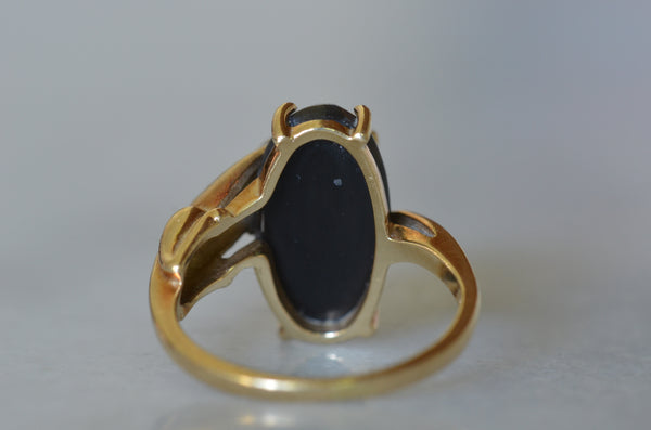 Dynamic Black Panther Vintage Ring