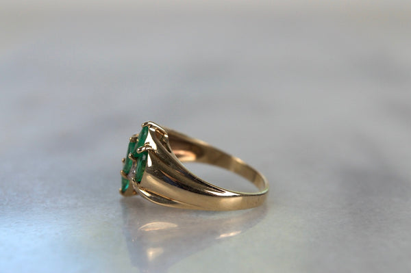 Vintage Emerald Marquise Cocktail Ring
