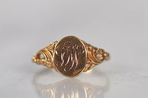 Swirling Antique DW Signet Ring