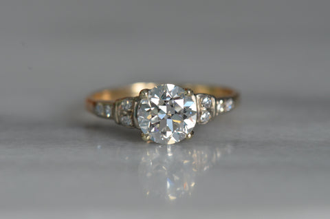 Exquisite Retro Transitional Cut Engagement Ring