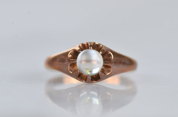 Mesmerizing Antique Moonstone Orb Ring