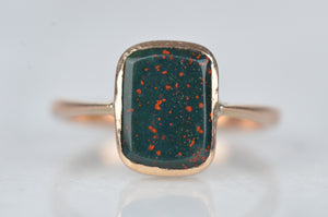 Dramatic Vintage Bloodstone Ring