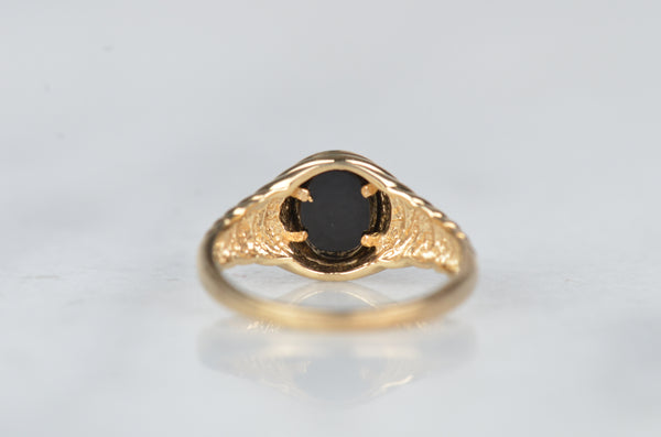 Vintage Onyx Bubble Ring