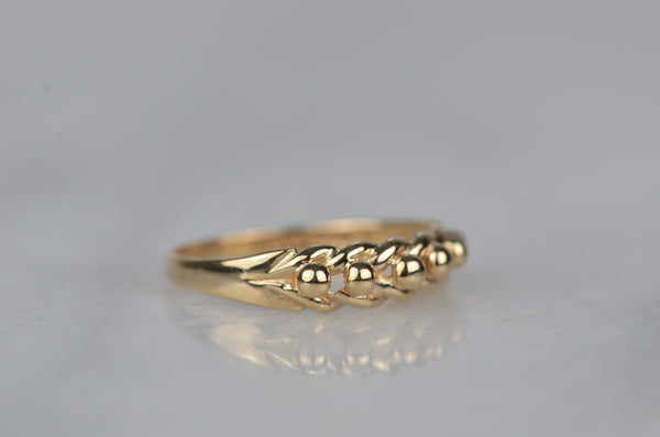Antique-Inspired Vintage Keeper Ring