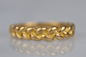 Buttery Vintage Braid Ring