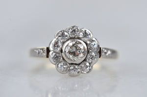 Warm Edwardian Daisy Ring