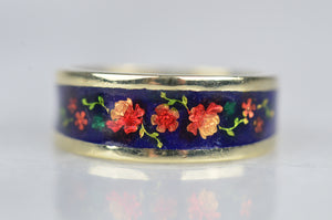 Outstanding Floral Enamel Band