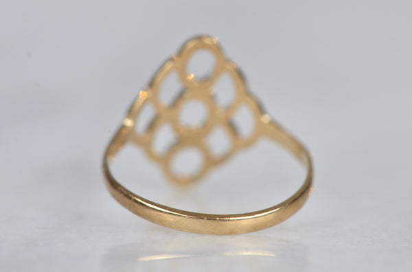 Sweet Vintage Honeycomb Ring