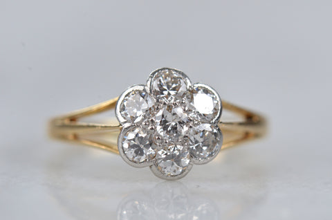 Outstanding Edwardian Daisy Ring