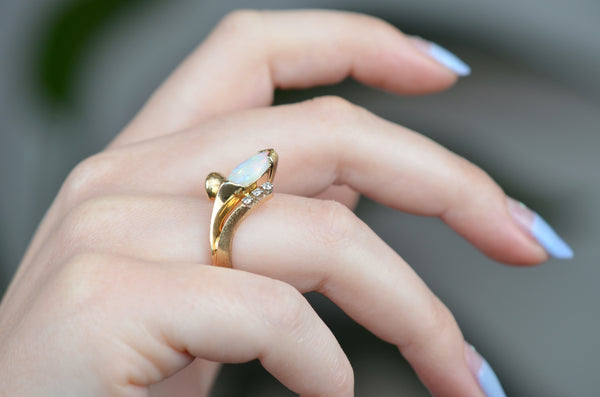 Sensational Vintage Opal Cocktail Ring