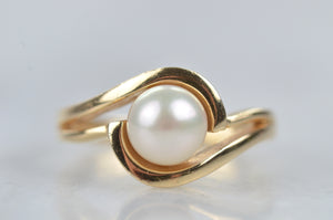 Swirling Pearl Ring