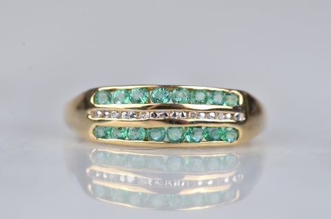 Crisp and Bright Vintage Emerald Band