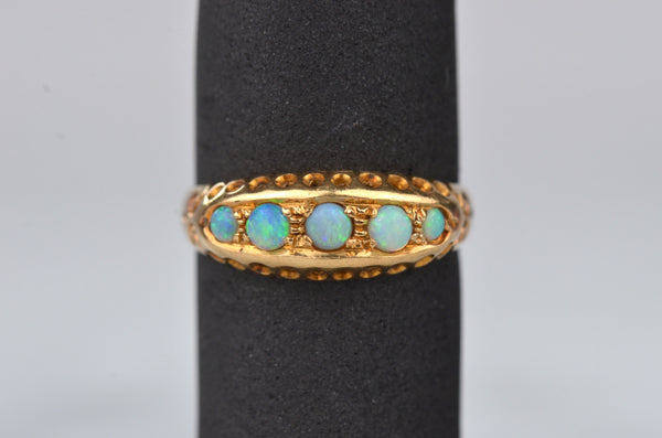Edwardian Inspired Opal Boat Ring