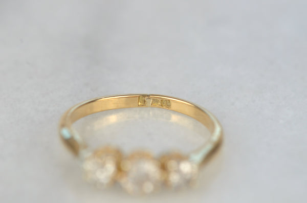 Petite Edwardian Trilogy Ring