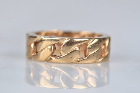 Chunky Vintage Chain Link Ring