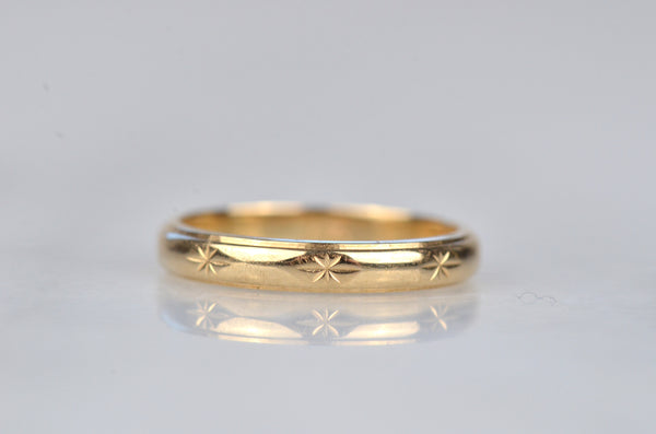 Petite Star-Engraved Eternity Band