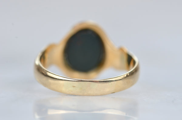 Unique Vintage Bloodstone Ring