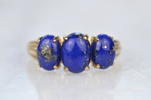 Enigmatic Estate Lapis Ring