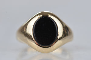 Glam Vintage Onyx Pinky Ring
