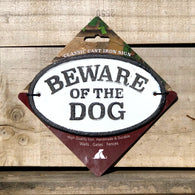 Beware Of The Dog - Cast Iron Oval Sign