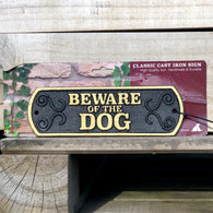 Beware Of The Dog - Cast Iron Landscape Sign