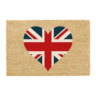 'Union Jack Heart' Doormat