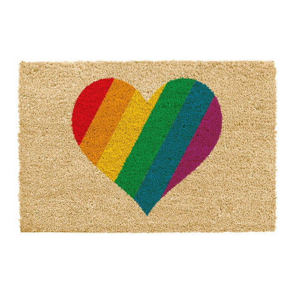 'Rainbow Heart' Doormat