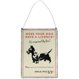 Vintage Dog Licence Metal Sign