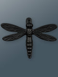 Dragonfly Solid Brass Door Knocker - Black Finish