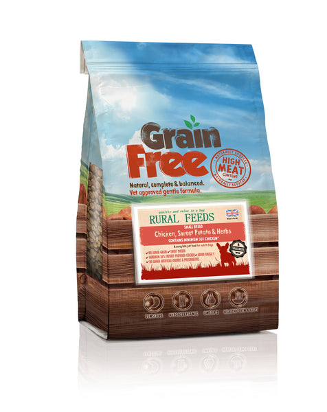 Rural Feeds Small Breed Chicken, Sweet Potato & Herb Dog Feed 2kg