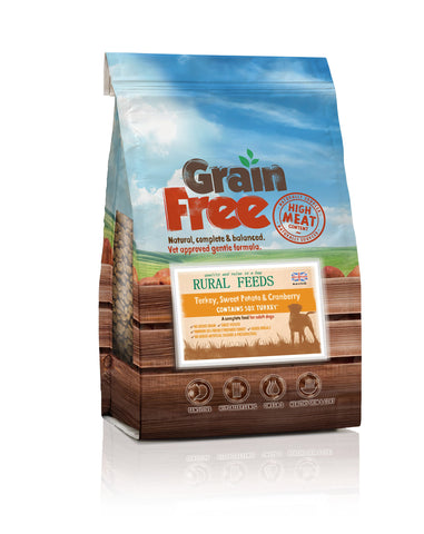 Rural Feeds Turkey, Sweet Potato & Cranberry 2kg