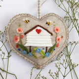 Hand Made Lavender Infused Felt Hanging Heart Decoration