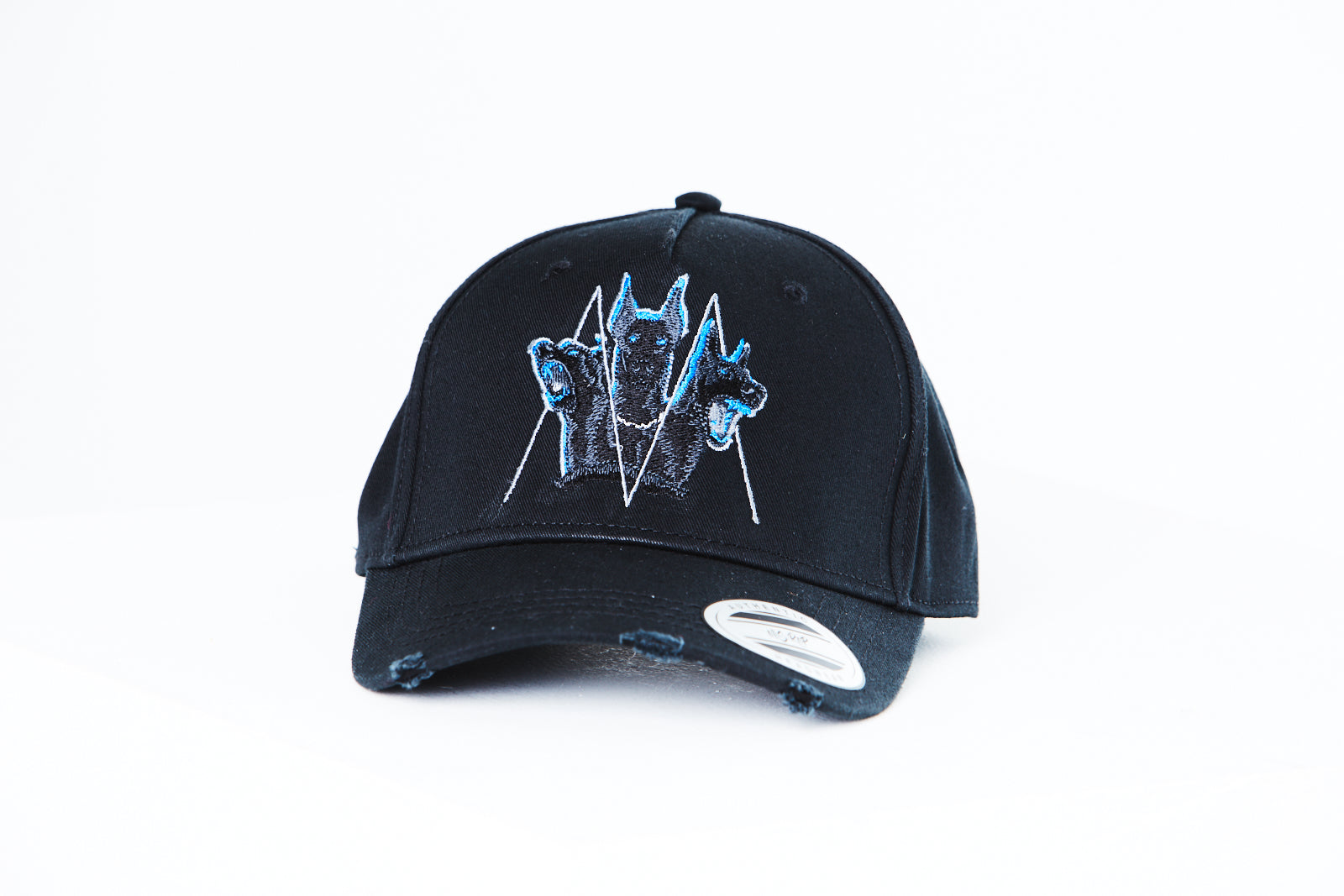 Distressed Blue Cerberus Cap (Black)