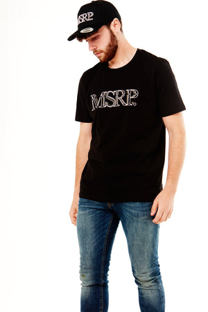 White Offset MSRP T-Shirt (Black)